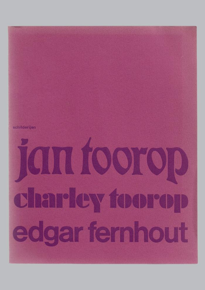 Jan Toorop, Charley Toorop & Edgar Fernhout exhibition catalog 1