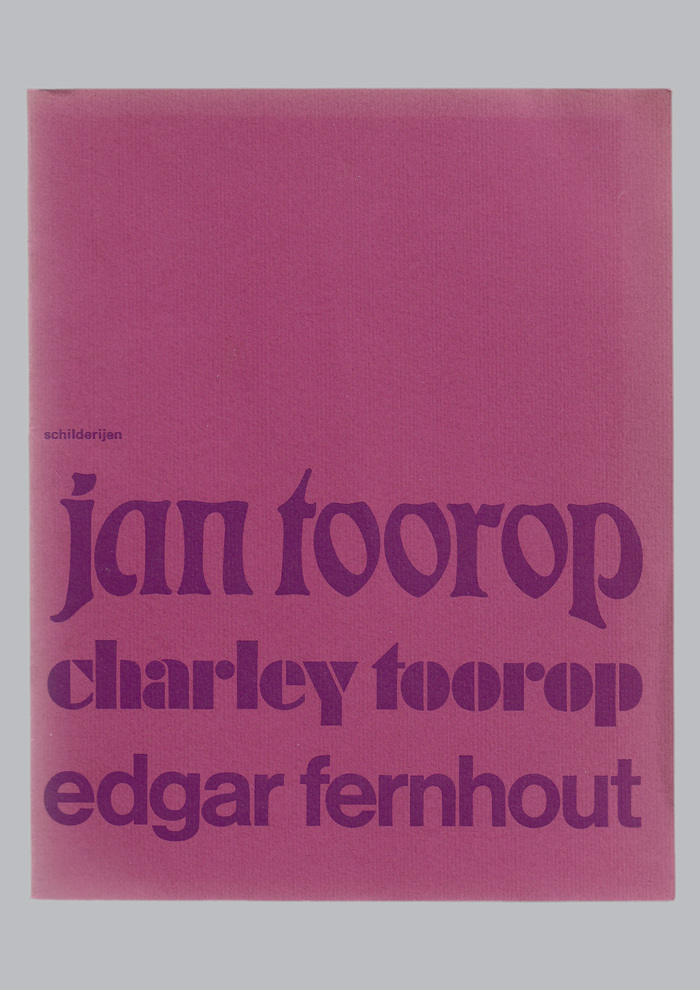 Jan Toorop, Charley Toorop & Edgar Fernhout exhibition catalog 1