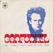 "Art Garfunkel – ""All I Know"" / ""Mary Was An Only Child"" Portuguese single sleeve"
