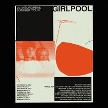 Poster for Girlpool's European Summer Tour 2019