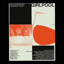 Poster for Girlpool's European Summer Tour 2019