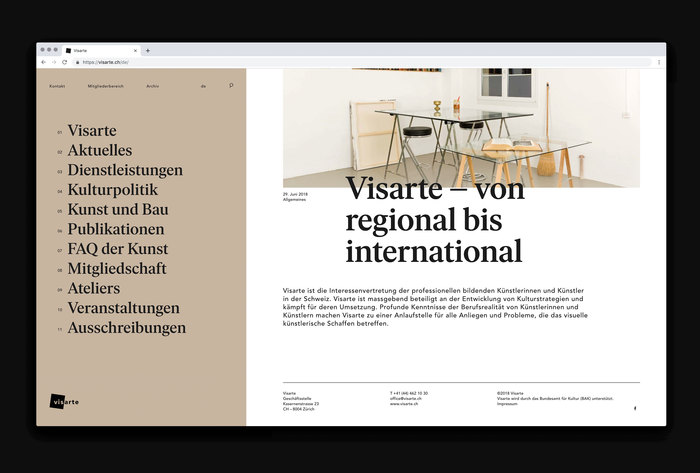 Visarte identity (2019–) 4