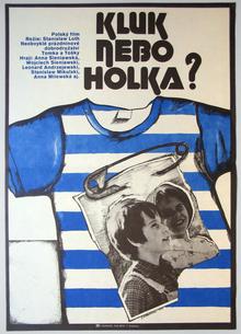 <cite>Kluk Nebo Holka?</cite> (1980) Czechoslovak movie poster