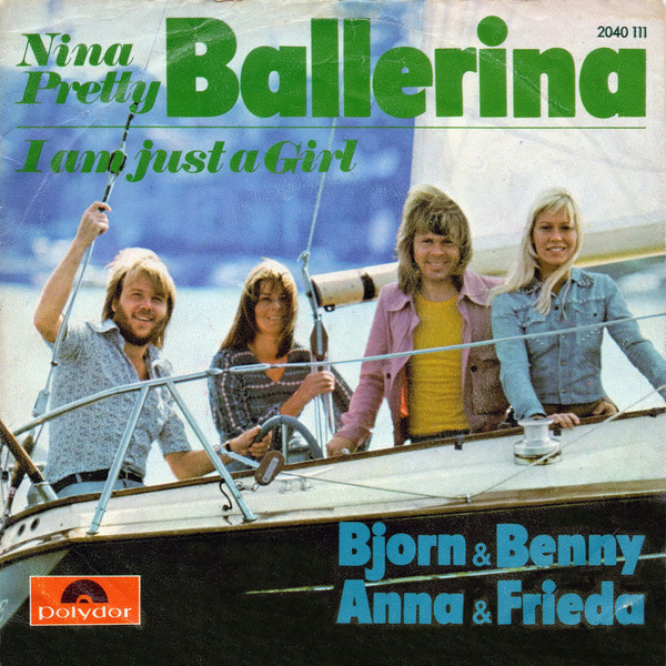 "The Austrian version of ""Nina, Pretty Ballerina"" (Polydor) features  Italic and ."