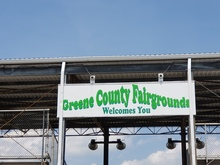 Greene County Fairgrounds entrance sign