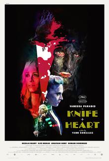 <cite>Knife + Heart</cite> movie poster