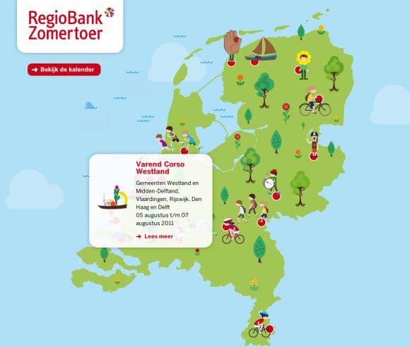 RegioBank Zomertoer website 1