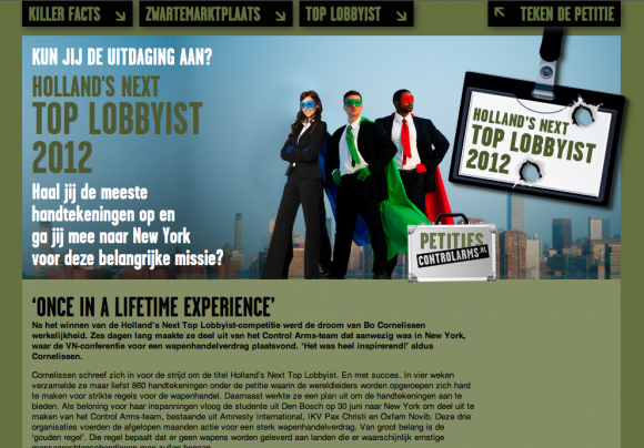 Controlarms.nl activist website 3