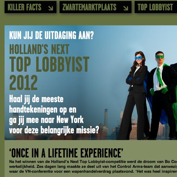 Controlarms.nl activist website 4