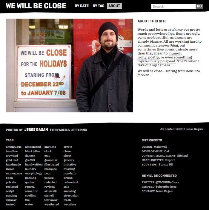 We Will Be Close website