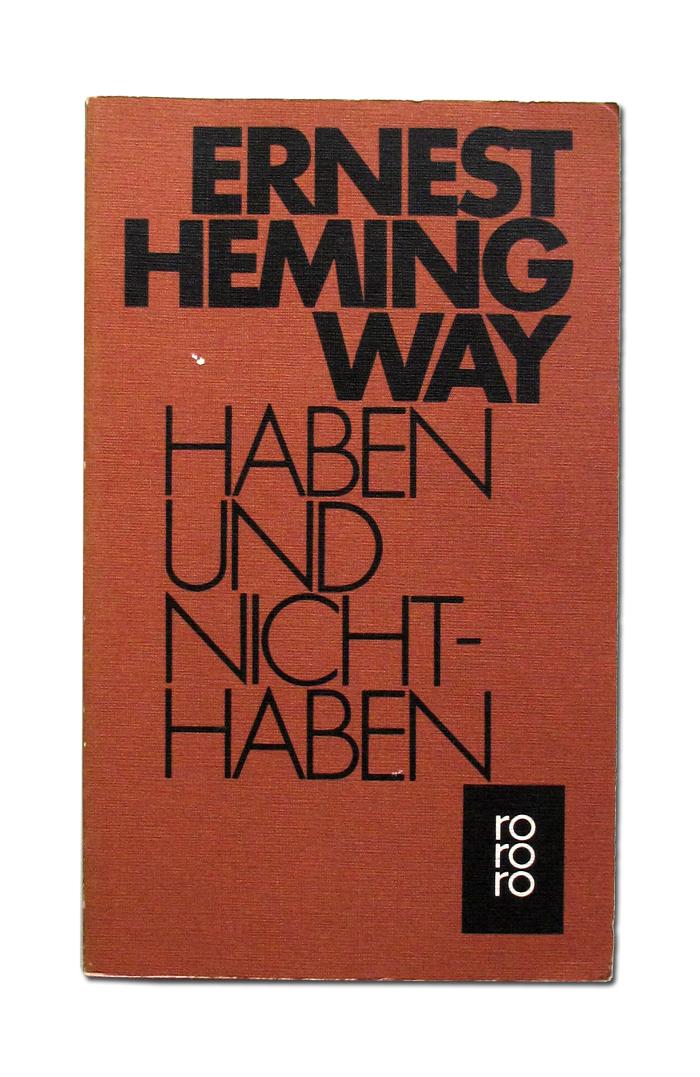 Ernest Hemingway book covers 1
