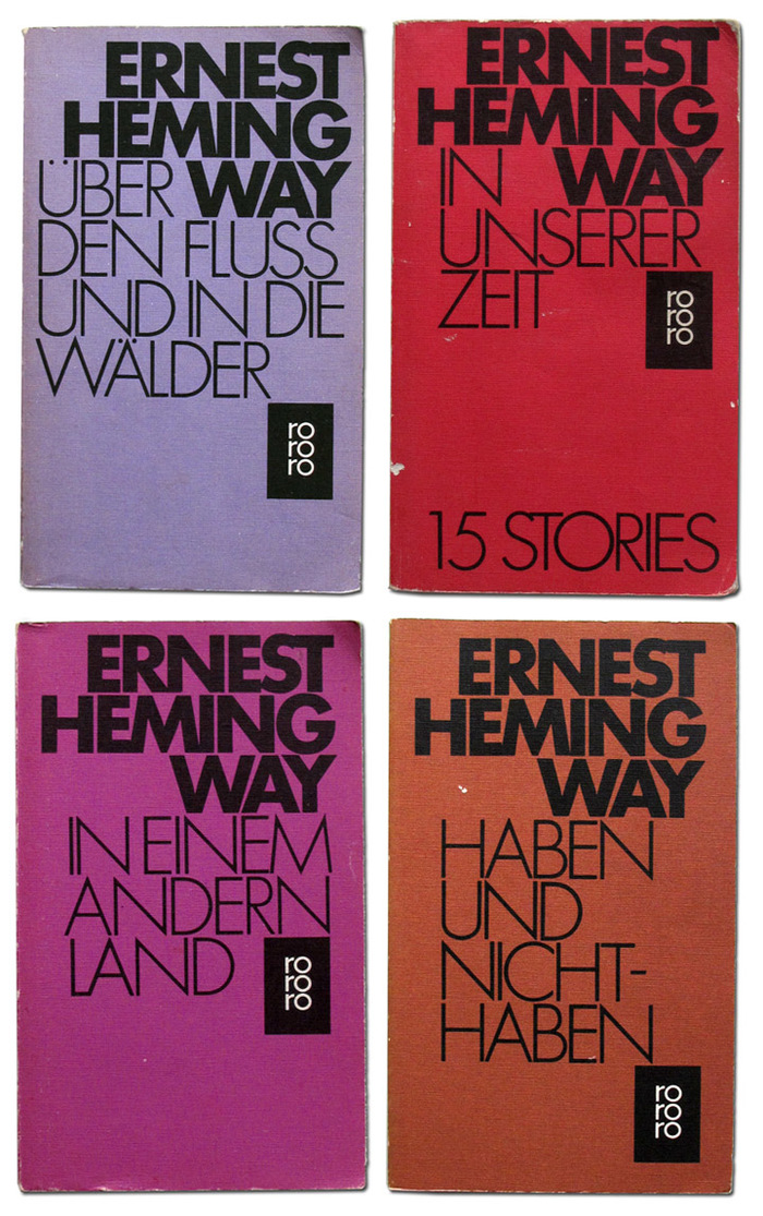 Ernest Hemingway book covers 5