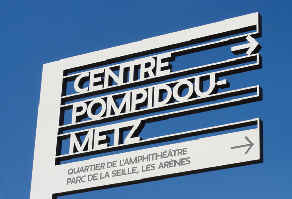 Centre Pompidou Metz signage system 1