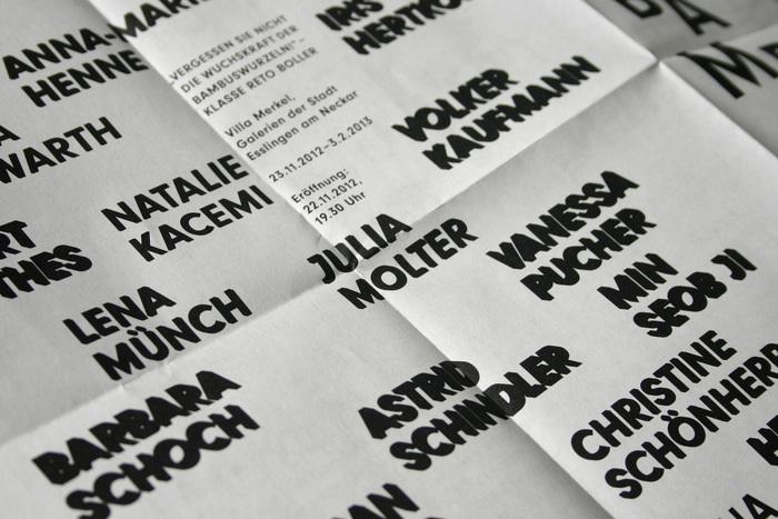 """Invitation poster for """"Vergessen Sie nicht die Wuchskraft der Bambuswurzeln!"""" 3"""