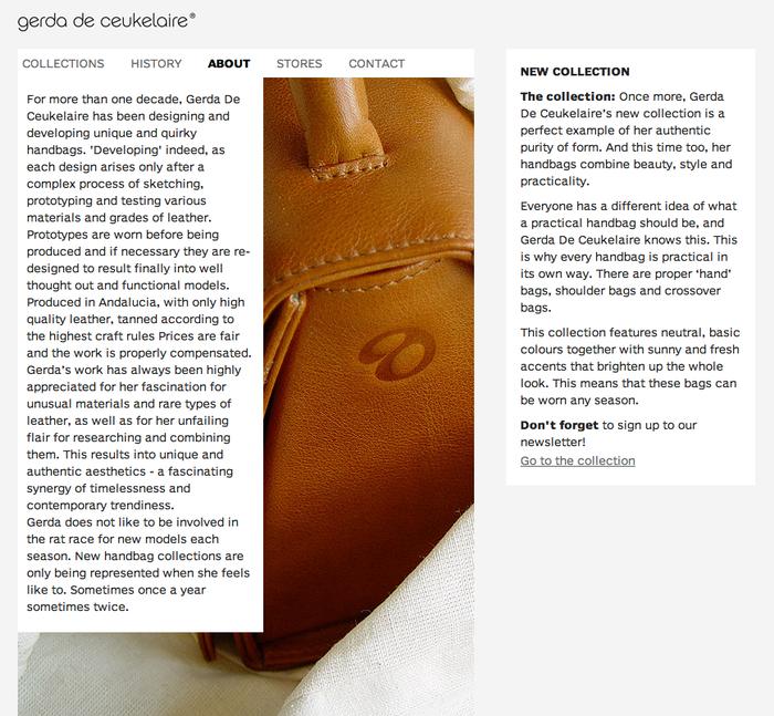 Gerda De Ceukelaire website 1