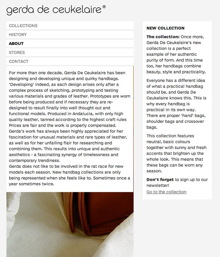 Gerda De Ceukelaire website 2