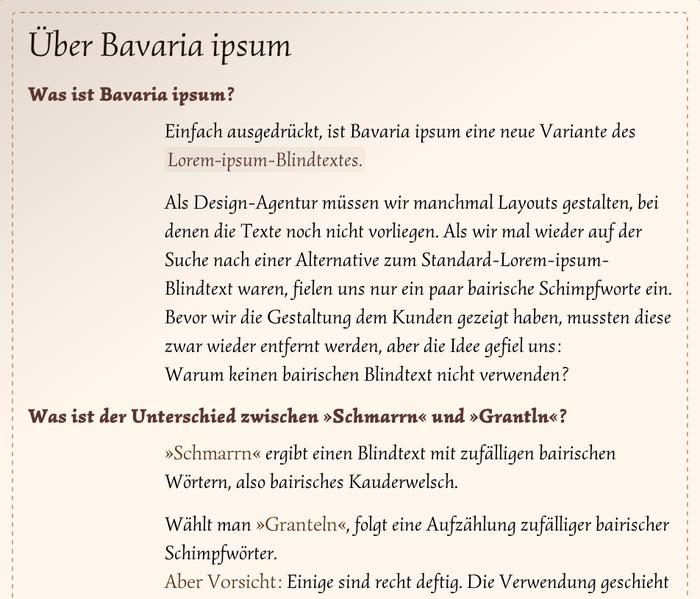 Bavaria ipsum 3
