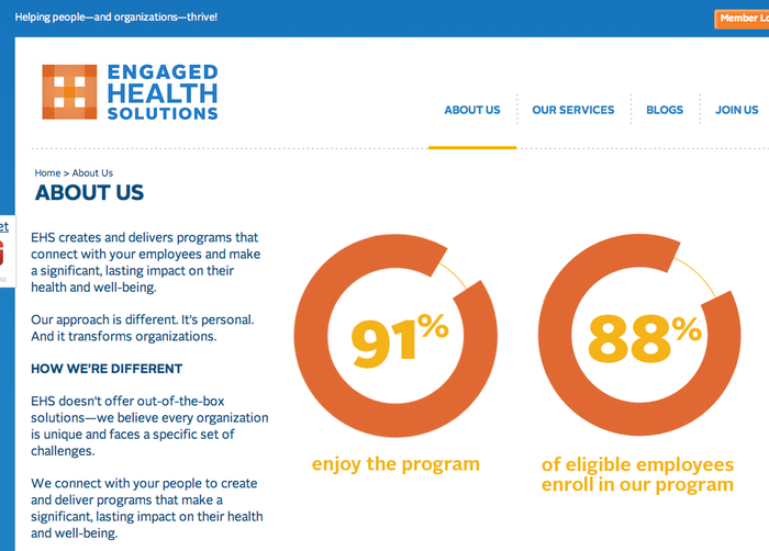 Engaged Health Solutions website 3