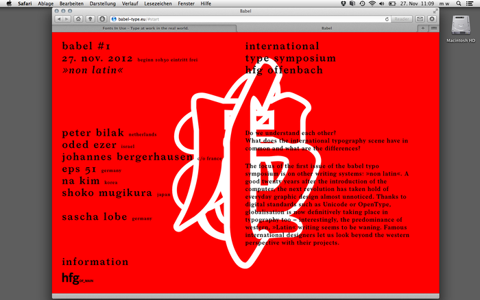 Babel #1 Type Symposium 1
