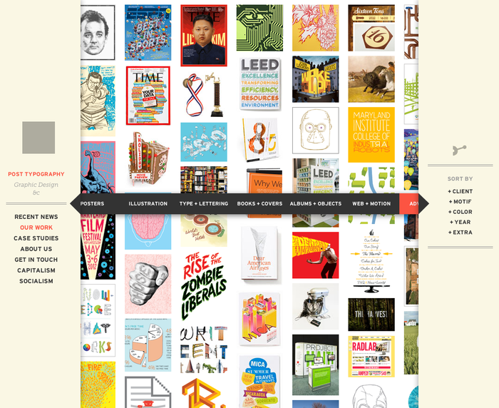 Post Typography website 2
