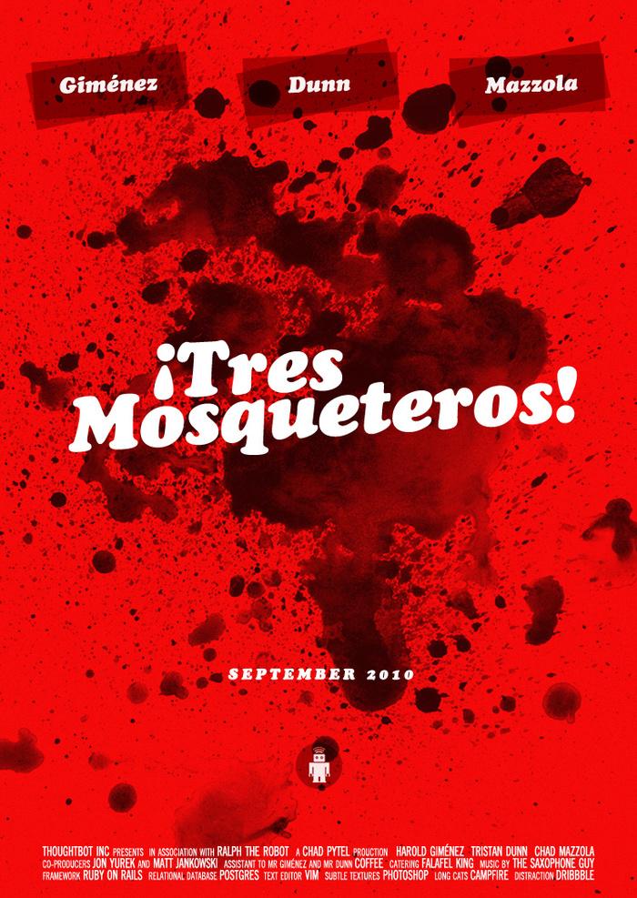 ¡Tres Mosqueteros! mock movie poster