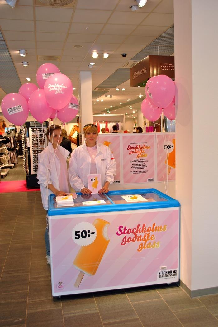 """""""Stockholms godaste glass"""" Campaign for Stockholms Stadsmission 4"""