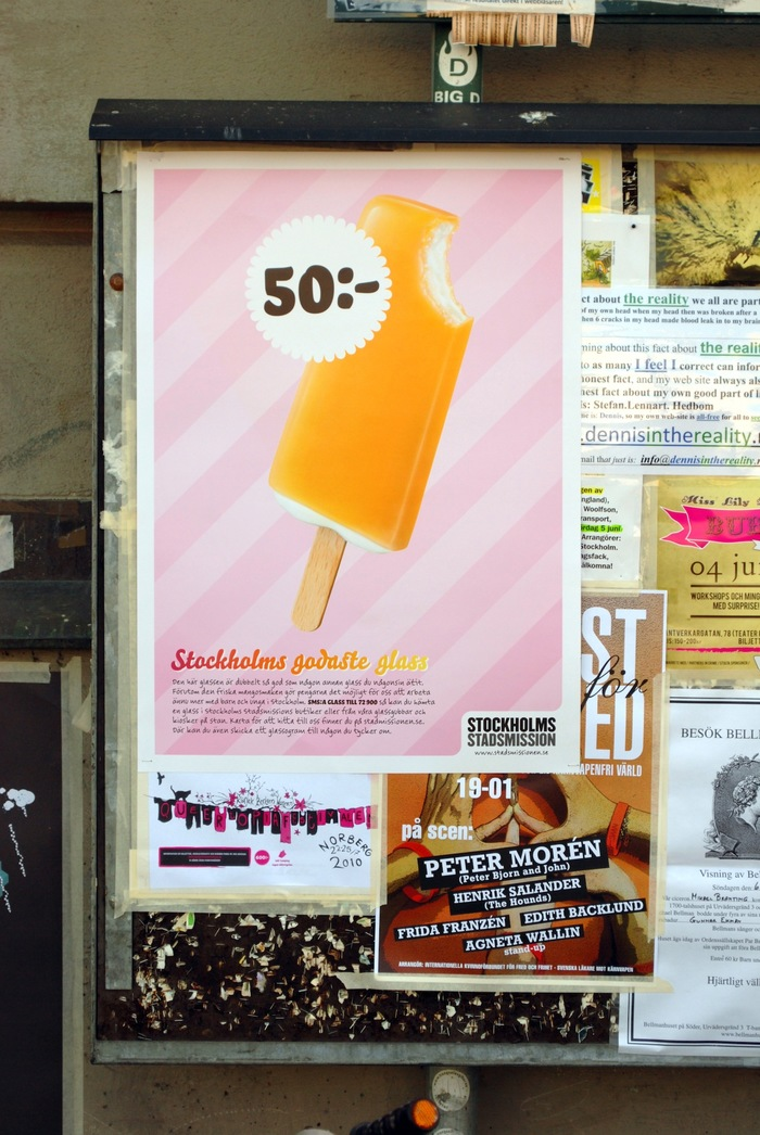 """""""Stockholms godaste glass"""" Campaign for Stockholms Stadsmission 5"""
