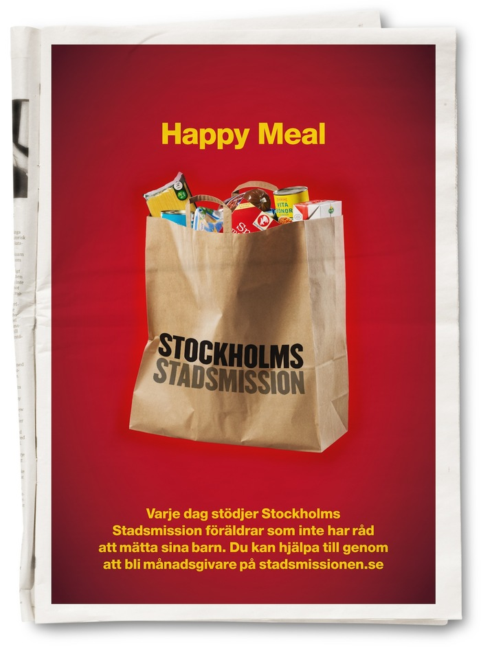 """""""Happy Meal"""" Campaign for Stockholms Stadsmission 1"""