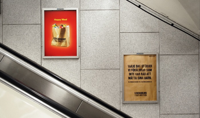 """""""Happy Meal"""" Campaign for Stockholms Stadsmission 2"""
