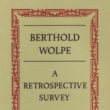 <cite>Berthold Wolpe. A Retrospective Survey</cite>