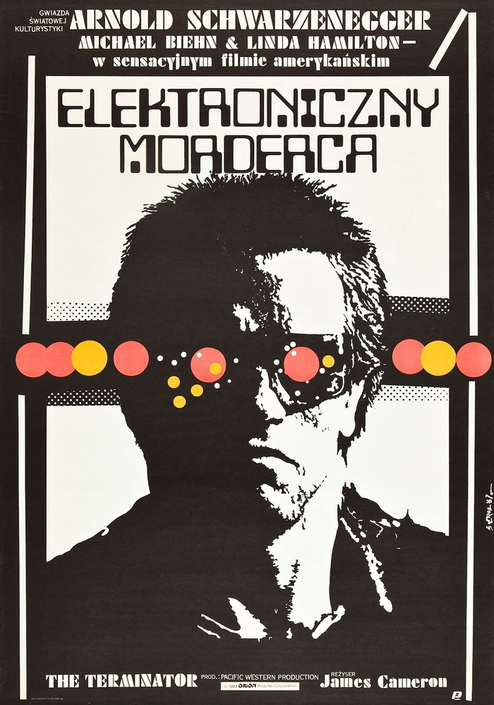 Polish Movie Poster for The Terminator