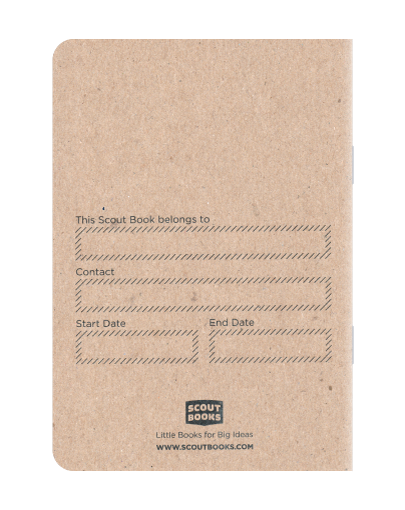 Scout Books' Numbered Notebooks 4