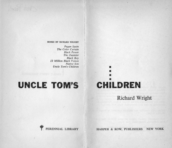 Uncle Tom's Children by Richard Wright 2