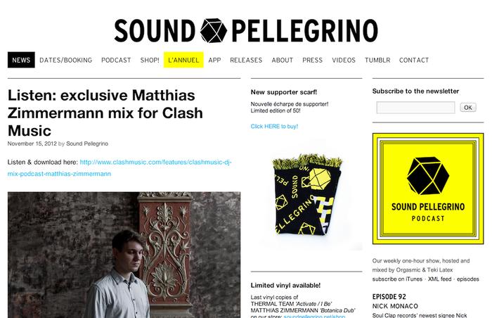 Sound Pellegrino identity and website 1