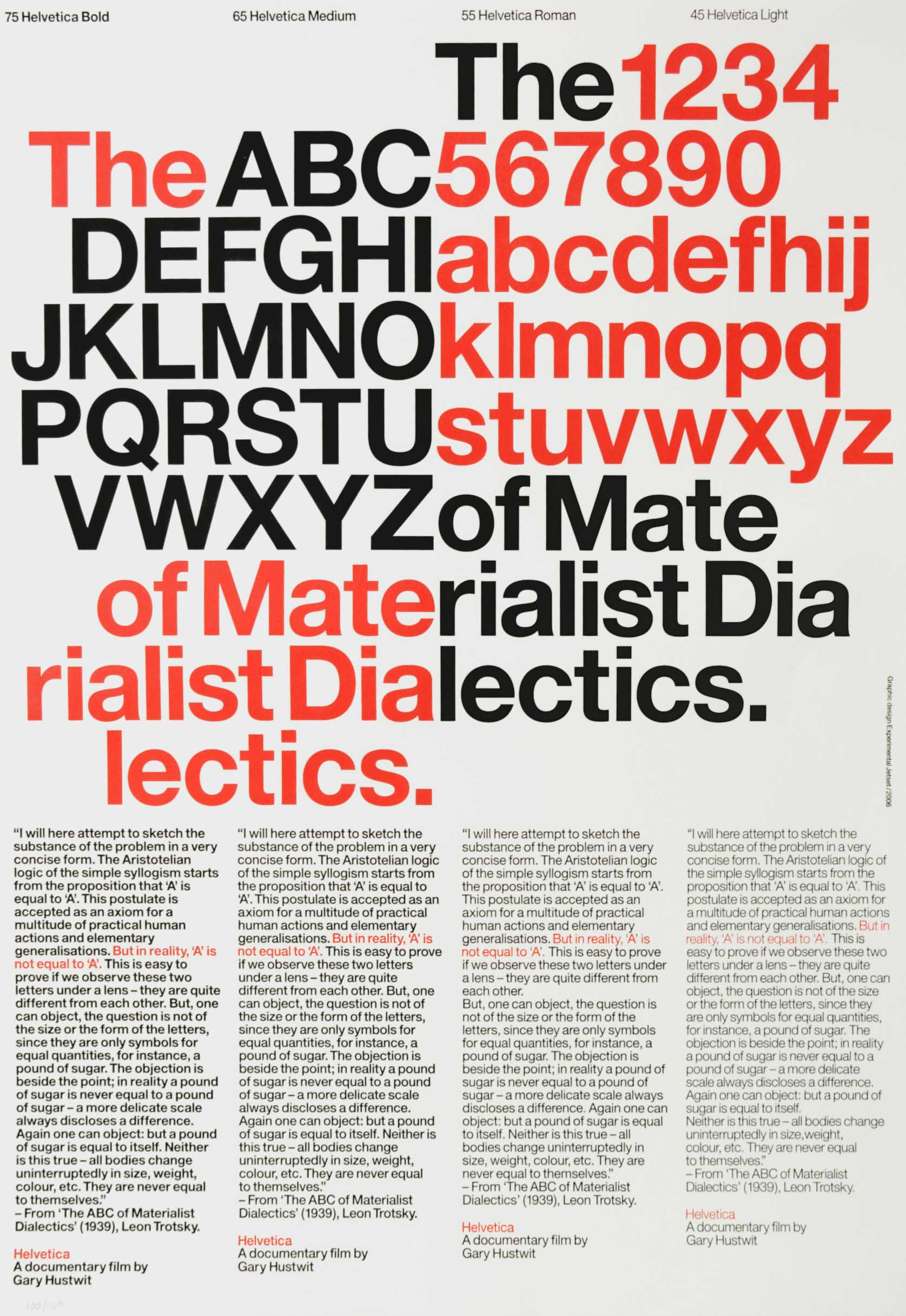 Posters for the Film Helvetica - Fonts In Use