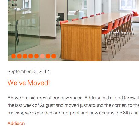 Addison website 2