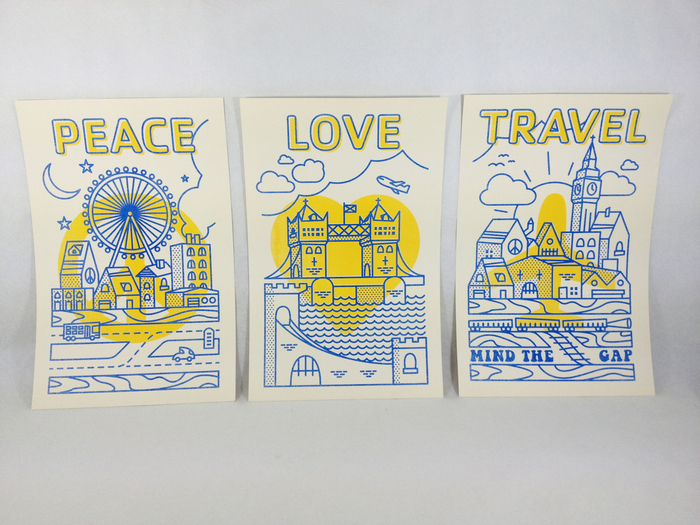 Peace, Love, Travel Posters for STA Travel 1