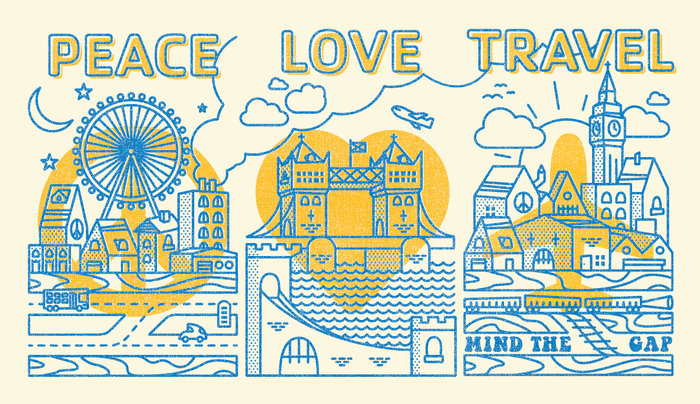 Peace, Love, Travel Posters for STA Travel 2