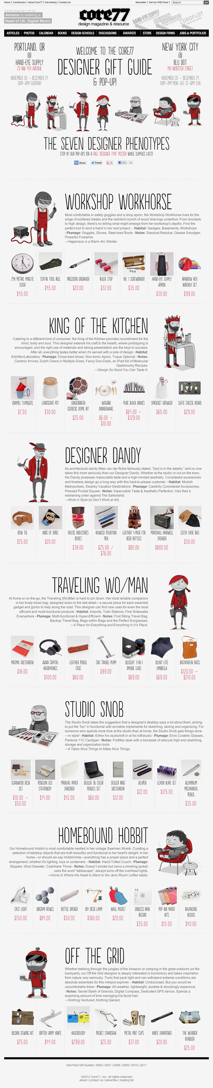 Core77 Designer Gift Guide: The Seven Designer Phenotypes 1