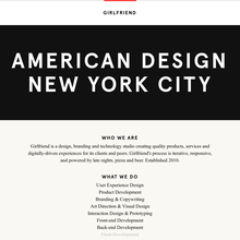 Girlfriend design studio website