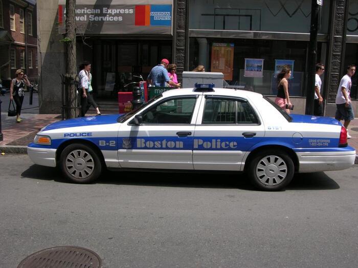 Classic Boston Police logo and cruiser 2