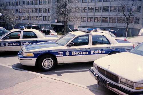 Classic Boston Police logo and cruiser 3