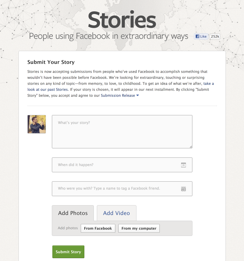 Facebook Stories - Fonts In Use