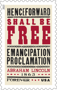 Emancipation Proclamation stamp