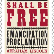 Emancipation Proclamation stamp