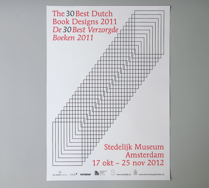 Poster for the exhibition of the Best Dutch Book Designs in the Stedelijk Museum Amsterdam