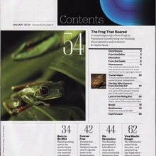 <cite>Smithsonian</cite> magazine table of contents (1989 &amp; 2013)