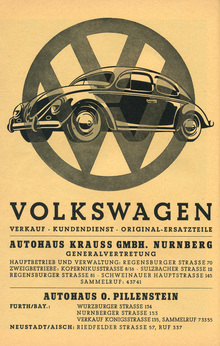 "Volkswagen ad, c.<span class=""nbsp"">&nbsp;</span>1955"