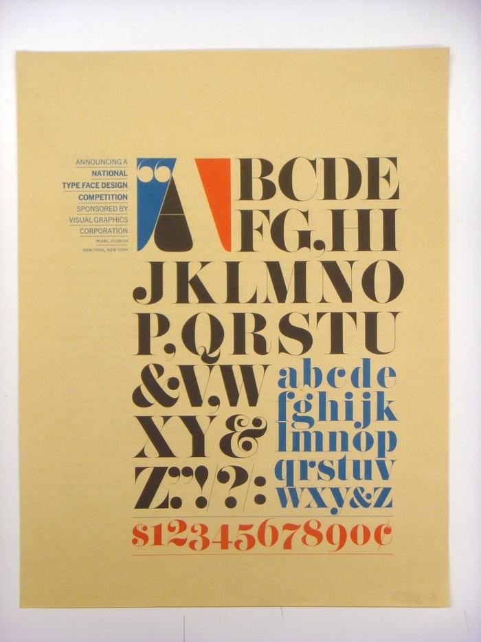 VGC Typeface Design Competition Announcement 1