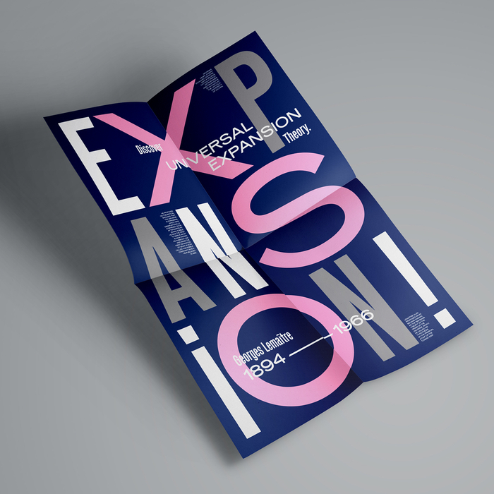 """Expansion!"" poster for Fedrigoni Plus"